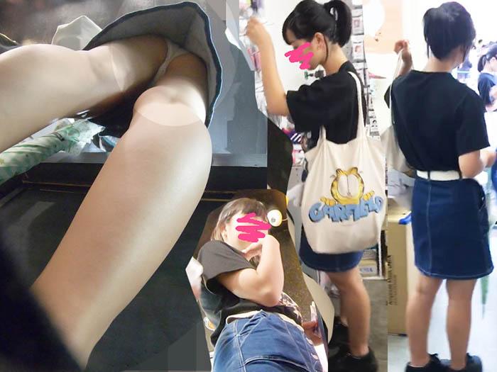 【4k画質】ミニデニムのロリSSS級〇Cちゃんw@靴亀