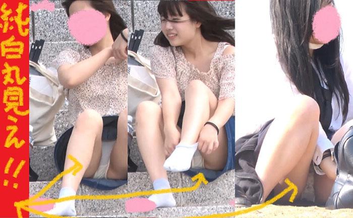 (PC/携帯対応)美少女だらけの全員純白パンティ超豪華3本立て!!