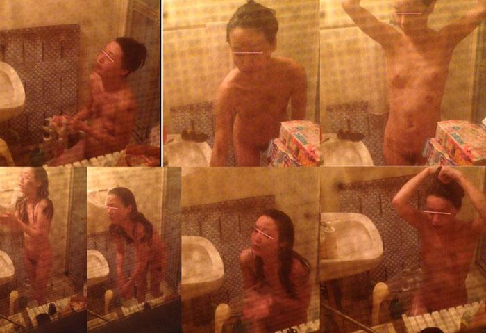 緊張感抜群、最後バレ!!めっちゃ美女の全裸、水しぶきが掛かる至近距離
